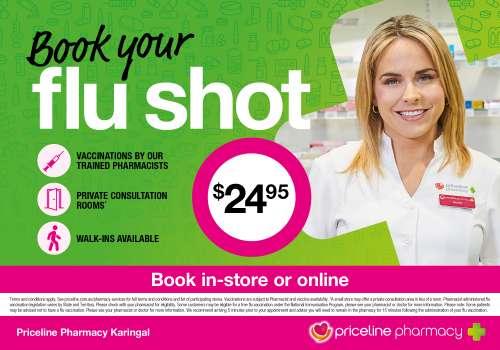 Book your flu shot at Priceline