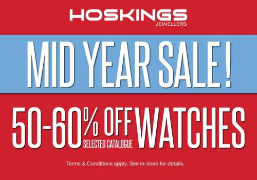 Mid Year Sale at Hoskings Jewellers